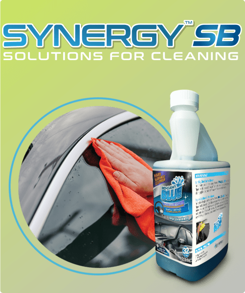 Synergy SB Bio-Clean BLUE - Glass & Surface Concentrate - 32oz/bottle (64 RTU Quarts)