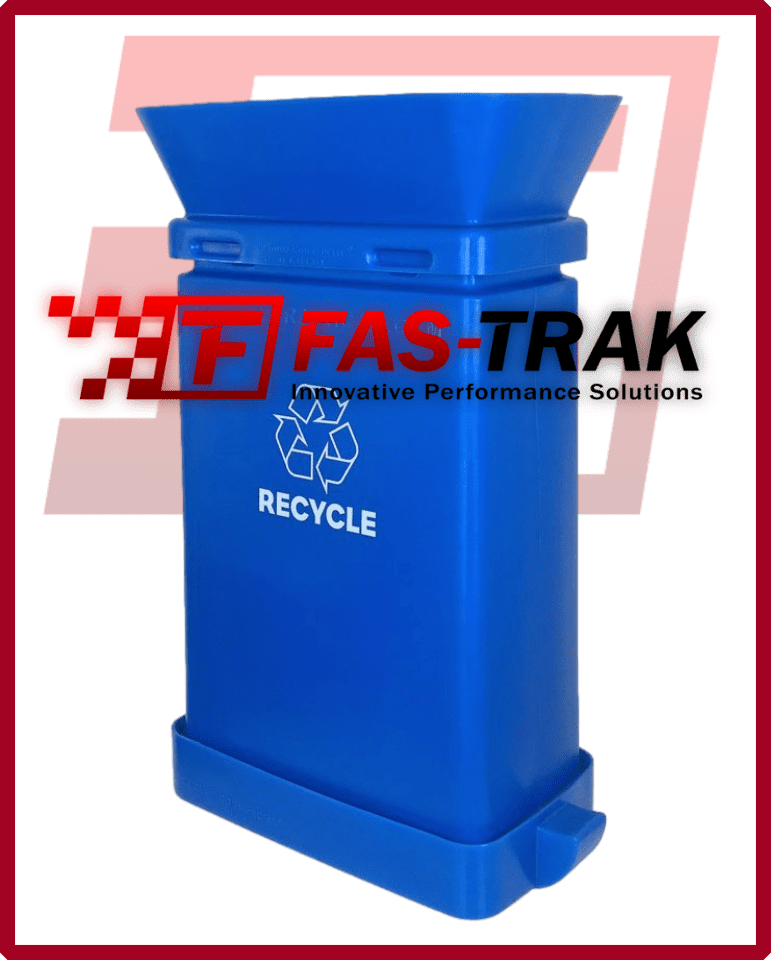 SmartcanMax Safety Receptacle - Blue Recycling